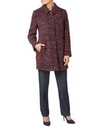 Eastex - Wool-blend Boucle Coat - Lyst