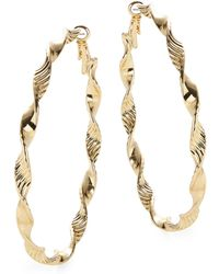 Lord & Taylor - Twisted Textured Oversized Hoop Earrings - Lyst