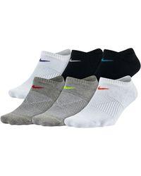 Nike | Six-pack Everyday Lightweight No-show Training Socks | Lyst