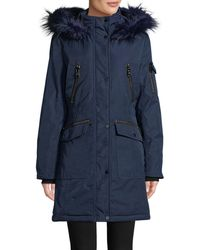 CALVIN KLEIN 205W39NYC - Faux Fur-trimmed Parka - Lyst