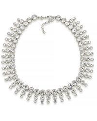 Carolee - Dramatic Crystal Collar Necklace - Lyst