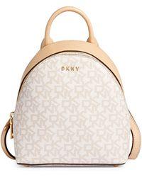 DKNY - Bryant Mini Logo Leather Backpack - Lyst
