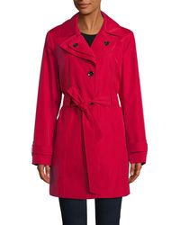 CALVIN KLEIN 205W39NYC - Single Breasted Hooded Trench Coat - Lyst