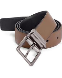 CALVIN KLEIN 205W39NYC - Reversible Square Buckle Leather Belt - Lyst