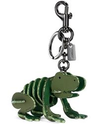 COACH | Small Froggy Puzzle Leather Bag Charm | Lyst
