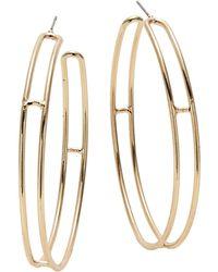 Lord & Taylor - Double Hoop Earrings - Lyst