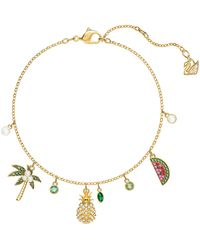 Swarovski - Lime Crystal Charm Bracelet - Lyst
