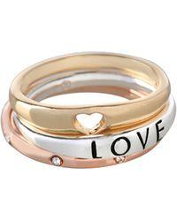 BCBGeneration - Affirmation Three-piece Love Ring Set - Lyst