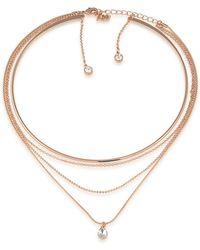 ABS By Allen Schwartz - Crystal Multi-strands Necklace - Lyst