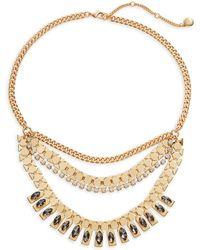 BCBGeneration - Crystal Bib Necklace - Lyst
