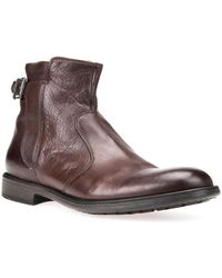 Geox - Jaylon Respira Leather Ankle Boots - Lyst