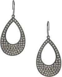 ABS By Allen Schwartz - Crystal Teardrop-shaped Drop Earrings - Lyst
