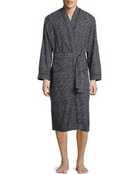 Black Brown 1826 | Printed Cotton Robe | Lyst