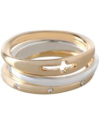 BCBGeneration - Affirmation Three-piece Faith Ring Set - Lyst