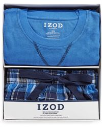 Izod - Two-piece Flannel Sleep Set - Lyst