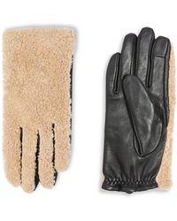 TOPSHOP   Borg Faux Fur Gloves   Lyst