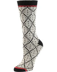 Sorel - Argyle Wool-blend Crew Socks - Lyst