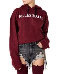 Filles A Papa - Tracy Crystal Hoodie - Lyst