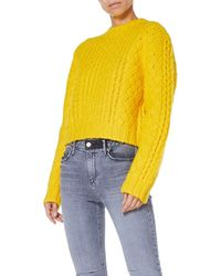R13 - Cropped Cable-knit Wool Sweater - Lyst