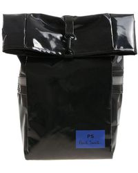 PS by Paul Smith - Black Roll-top Backpack - Lyst