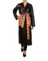 Loewe - Leather Trench Coat - Lyst