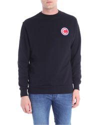 Colmar - Black Cotton Sweatshirt With Logo Patch - Lyst