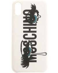 Moschino - White Cover Iphone X - Lyst