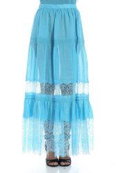 Ermanno Scervino - Light Blue Ramie Skirt - Lyst
