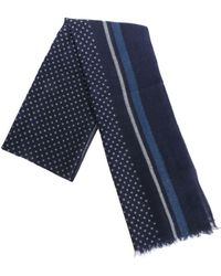 Altea - Blue Stripes And Polka Dot Scarf - Lyst