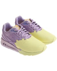 Le Coq Sportif - Lilac And Yellow Nubuk Lcs R800 S Sneakers - Lyst