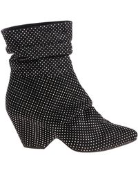 Vic Matié - Black Ankle Boot With Rhinestones - Lyst