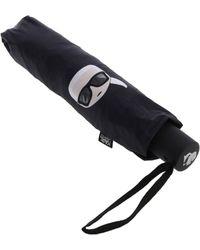"""Karl Lagerfeld - Black """"ikonik"""" Umbrella - Lyst"""