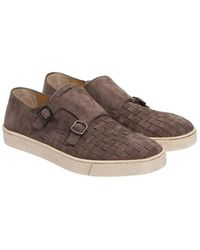 Sneakers Double-Monk 15021 leather blue grey Santoni Marketable Cheap Online 2018 New Cheap Online From China For Sale eCjtP