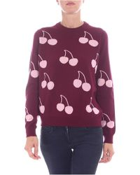 Paul Smith - Burgundy Pullover With Cherries Inlay - Lyst