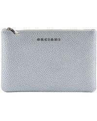 Orciani - Silver Leather Wallet - Lyst