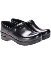 Dansko - Black Leather Clogs - Lyst