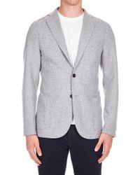 Eleventy - Grey Single-breasted Half-lined Jacket - Lyst