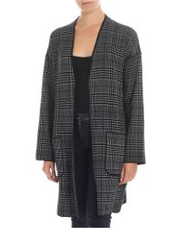 """Tommy Hilfiger - """"tedra"""" Black And White Cardigan - Lyst"""