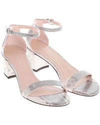 Stuart Weitzman - Silver Simple Sandals - Lyst