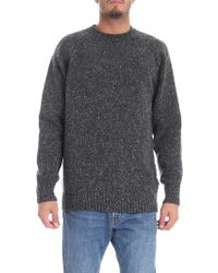 "Barbour - ""netherton"" Dark Grey Pullover - Lyst"