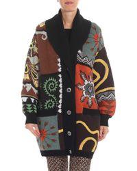 Etro - Oversized Patchwork Wool Cardigan - Lyst