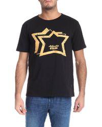 Atlantic Stars - Black Printed T-shirt - Lyst