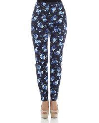 Max Mara Studio - Blue Effluvi Floral Print Pants - Lyst