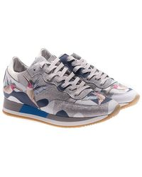 Philippe Model - Tropez Sneakers With Bird Embroideries - Lyst