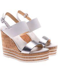 Hogan - H361 Wedge Sandals - Lyst