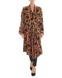 Mes Demoiselles - Beige Red And Blue Cesar Kimono - Lyst