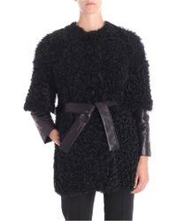 DROMe - Black Sheep Leather Coat - Lyst