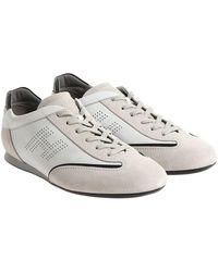 Hogan - White Olympia Slash Sneakers - Lyst