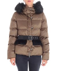 Pinko - Giradischi Quilted Brown Jacket - Lyst