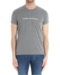 Aspesi - Gray Melange Brutto Ma Buono T-shirt - Lyst